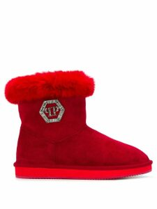 Philipp Plein Crystal Plein ankle boots - Red