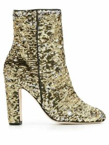 Paris Texas sequin-embellished ankle boots - Gold