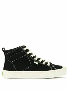 Cariuma OCA high washed black canvas contrast thread sneakers