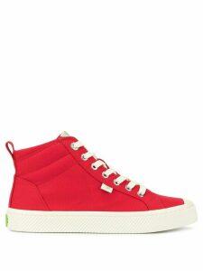 Cariuma OCA high red canvas sneakers