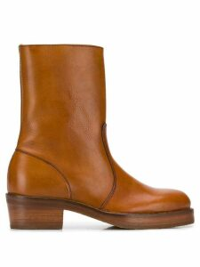 YMC side zipped ankle boots - Brown