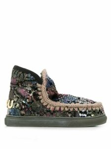 Mou sequin-embroidered boots - Black