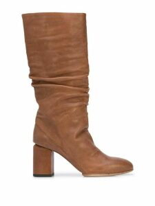 Officine Creative knee-length ruched boots - Brown