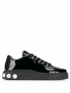Miu Miu embellished detail low-top sneakers - Black