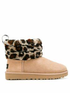Ugg Australia leopard roll-down boots - Brown
