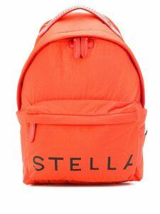 Stella McCartney logo-print backpack - ORANGE