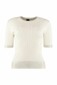 Pinko Gallese Knitted Viscosa-blend Top