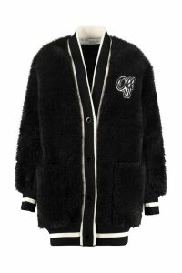 Off-White Faux Fur Cardigan