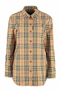 Burberry Cotton Shirt With Button-down Collar