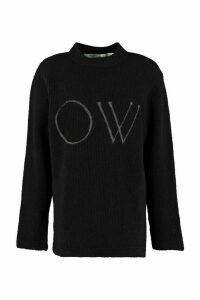 Off-White Ow Long-sleeved Crew-neck Sweater