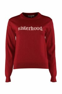 Maison Labiche Sisterhood Crew-neck Wool Sweater