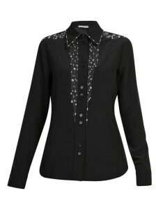 Givenchy Embellished Crepe Silk Shirt