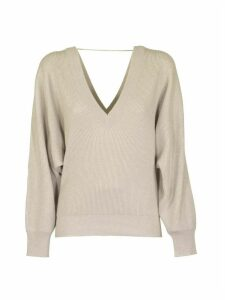 Brunello Cucinelli English Ribbed Sweater V-neck Cashmere Sweater