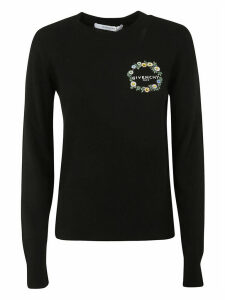Givenchy Floral & Logo Embroidered Sweater