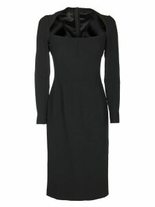 Dolce & Gabbana Scoop Neck Fitted Midi Dress