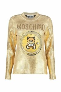 Moschino Embroidered Ribbed Sweater