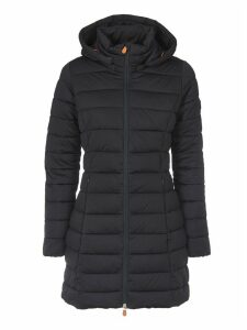 Save the Duck Save The Duck Slim Fit Dark Down Jacket With Logo