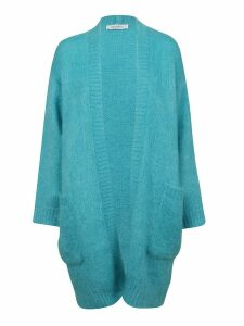 Turquoise Mohair Cardigan