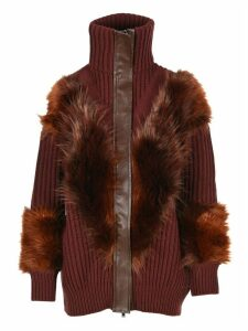 Stella Mccartney Oversized Faux-fur Trim Cardigan