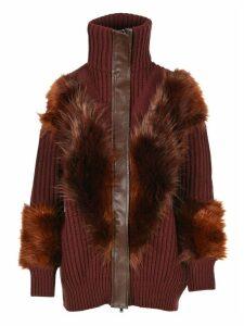 Stella Mccartney Oversized Faux-fur Trim Cardigan