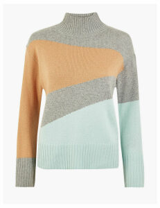 Per Una Colour Block Funnel Neck Jumper