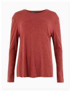 M&S Collection Polka Dot Long Sleeve Top