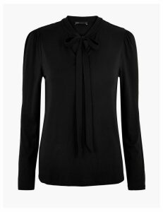M&S Collection High Neck Long Sleeve Top