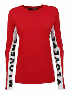 Red Cotton Long Sleeve T-shirt