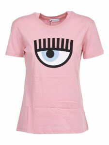 Chiara Ferragni Pink T-shirt With Maxi Logo