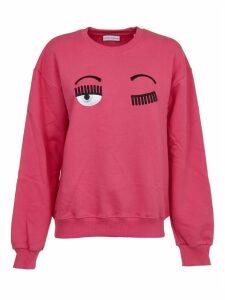 Chiara Ferragni Fuchsia flirting Crewneck Sweatshirt