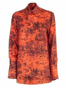 Victoria Victoria Beckham Shirt L/s Forest Printing W/pocket