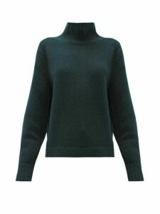 Acne Studios - Kastrid Wool Blend Sweater - Womens - Dark Green