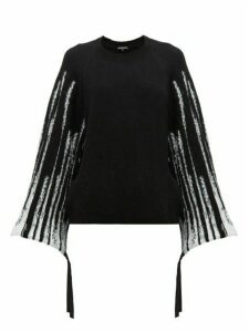 Ann Demeulemeester - Striped Wool Blend Sweater - Womens - Black White