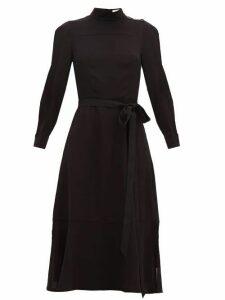 Cefinn - High-neck Muslin A-line Dress - Womens - Black