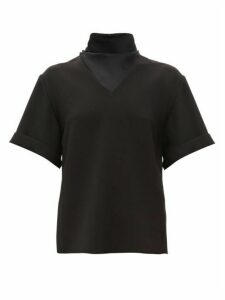 Ellery - Hopper High-neck Crepe Top - Womens - Black
