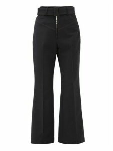 Ellery - Supervision Contrast-stitch Kick-flare Trousers - Womens - Navy