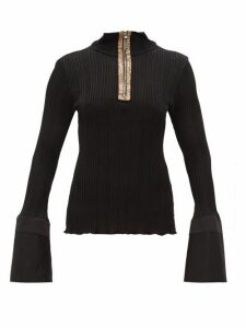 Ellery - Arcade Fluted-cuff Zipped Top - Womens - Black