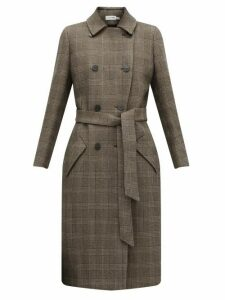 Cefinn - Sullivan Checked Double-breasted Cotton-blend Coat - Womens - Brown Multi