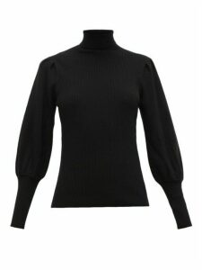 Cefinn - Ribbed Roll-neck Wool Sweater - Womens - Black