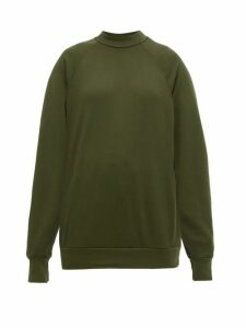 Les Tien - Raglan-sleeve Cotton Sweatshirt - Womens - Khaki