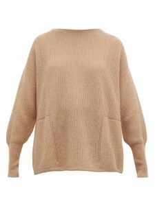 Brunello Cucinelli - Monili-trimmed Ribbed Sweater - Womens - Light Brown