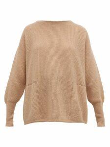 Brunello Cucinelli - Monili-trimmed Ribbed Sweater - Womens - Light Brown