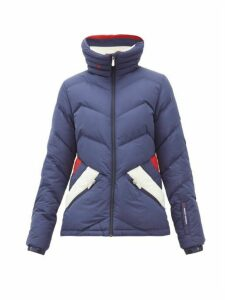 Perfect Moment - Après Duvet Down-filled Ski Jacket - Womens - Navy