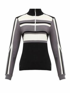 Bogner - Dafne Half-zip Striped Wool-blend Sweater - Womens - Black
