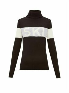 Perfect Moment - Ski-intarsia Roll-neck Sweater - Womens - Black