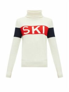 Perfect Moment - Ski-intarsia Roll-neck Wool Sweater - Womens - White Multi