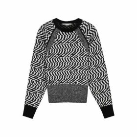 Stella McCartney Monochrome Intarsia Wool Jumper