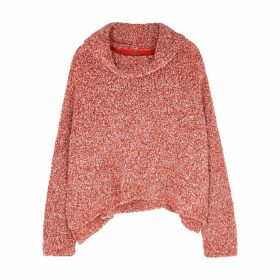 Free People BFF Red Bouclé-knit Jumper