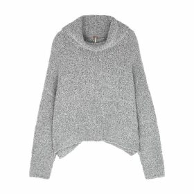 Free People BFF Grey Bouclé-knit Jumper