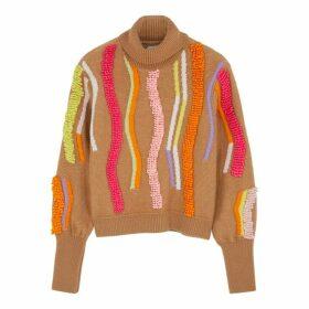 Peter Pilotto Camel Textured Wool-blend Jumper